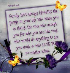 Family isn't Always Blood famili