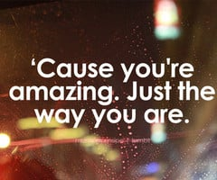 Cause You're Amazing. Just The Way You Are.