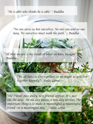 ... Buddhist group. Below are a few quotes from him, as well as Buddha