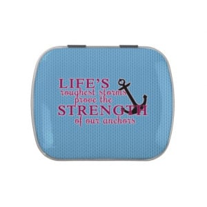 Anchor Strength Quote Jelly Belly Candy Tin