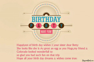 Happy Birthday Sister Quotes Facebook Happy Birthday Quotes Amp Sms
