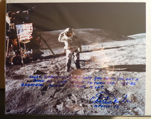 Details about Charlie Duke Rare Apollo 16 Signed Quote Photograph