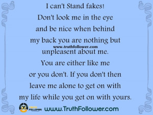 can't Stand fakes!