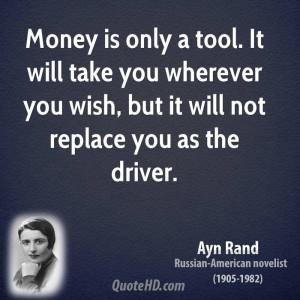 Ayn Rand Money Quotes