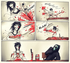 Creepypasta breakfast. by Paradoxoid