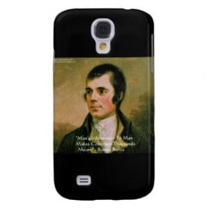 Robert Burns Famous Quote Galaxy S4 Case