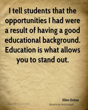 Ellen Ochoa Education Quotes