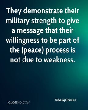 They demonstrate their military strength to give a message that their ...