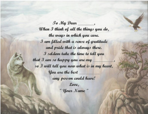 Poem Wolf and Eagle Print over 50 Name styles available /Mothers ...
