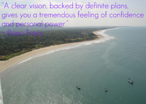 clear vision, backed by definite plans, gives you a tremendous ...