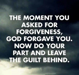 Ask for forgiveness!