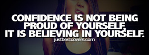 Confidence Is Not Being Proud Timeline Banner