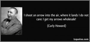 shoot an arrow into the air, where it lands I do not care: I get my ...