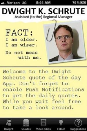 Dwight Schrute quote of the da Screenshot 4