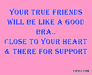 Your True Friends Will Be Like A Good Bra Facebook Status