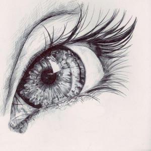 cry, crying, draw, drawing, eye, eyes, girl, green eyes