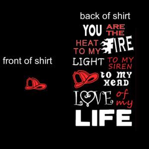 Firefighters Girlfriend Tshirt