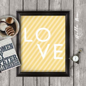 LOVE Nursery art Wall decor quote print printable quote by HelloAm, $5 ...