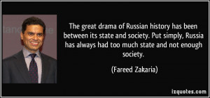 The great drama of Russian history has been between its state and ...