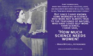 Maria Mitchell Science Needs Women