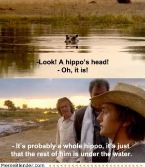 top gear richard hammond a hippos head