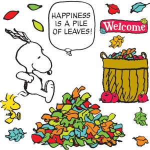 Peanuts® Happiness Is A Pile Of Leaves Bulletin Board Set