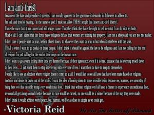 ... Hate And Prejudice It Spreads….. - Victoria Reid ~ Religion Quote