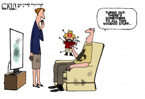 Editorial cartoon: Fan voodoo