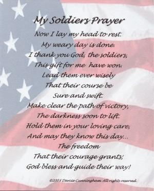 My Soldiers Prayer
