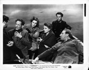 ... William Bendix, Hume Cronyn, Mary Anderson and Henry Hull in Lifeboat