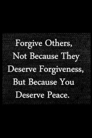 Forgiveness Brings Peace.