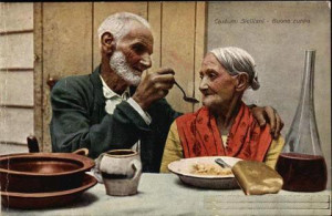 very poor man lived with his wife one day his wife who had very long ...