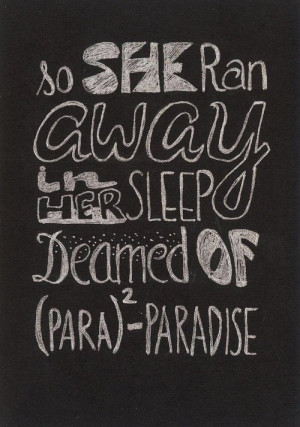 Best Coldplay Song Quotes | coldplay paradise words art quotes quotes ...