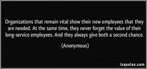 Organizations that remain vital show their new employees that they are ...