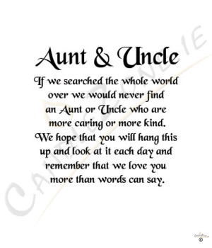 Aunt and Uncle 8x6 Verse Photo Frame
