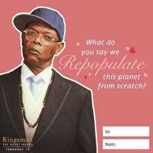 Valentine's Day message with your special someone from the Kingsman ...
