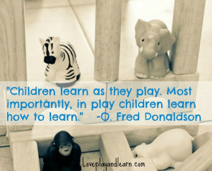 ABC's of Learning Through Play A-E