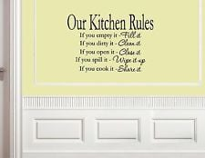 Our Kitchen Rules - Vinyl wall decals quotes sayings words #0702