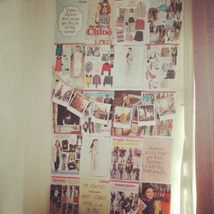 wall #diy #polaroid #craft #collage #magazine #fashion #girl #quotes ...