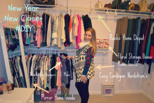 Carrie Bradshaw Closet Quote Project closet: sneak peek