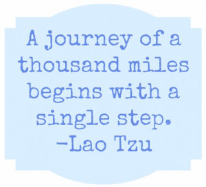 Taking The First Step…