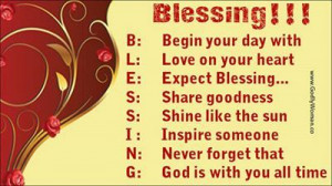 Thank God for His blessings