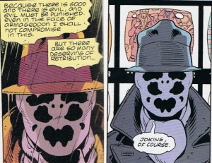 youve drawn watchman rorschach character on were great times rorschach