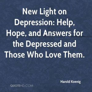 New Light on Depression: Help, Hope, and Answers for the Depressed and ...