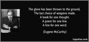 More Eugene McCarthy Quotes
