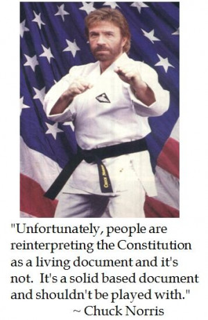 Chuck Norris on the Constitution
