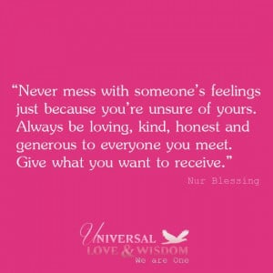Be kind, do unto others, love.