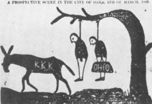 Cartoon Threatening that the KKK Would Threaten Carpetbaggers ...