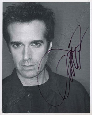David Copperfield Autographed Photo
