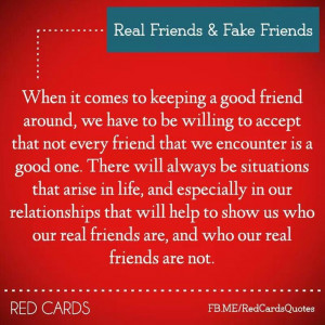 Real friends & fake friends